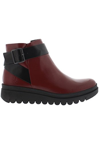 FLY London Damen Halp773fly Kurzschaft Stiefel Rot