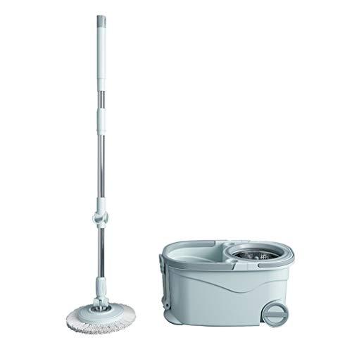 Ytuoba 360 ° drehbarer Mopp, handfreier automatischer Nass- und Trocken-Moppeimer for Lazy Home, Ersatz for Moppkopf aus Mikrofaser 2 hj (Color : Blau, Size : 2 mop Heads)