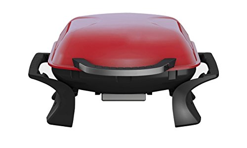 Qlima Tragbarer Holzkohle-Grill 37x53 cm Rot PC 1015