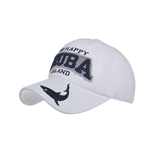 SEWORLD Baseball Hat Unisex Baseballmützen Einstellbare Bestickte Sonnenhut Verstellbare Kappen Hochwertige Mütze für Damen und Herren, Sommer Hüte Sport Mütze Schirmmütze(Weiß)