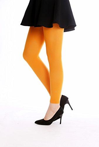 DRESS ME UP - WZ-014O-orange Strumpfhose Leggings Pantyhose Damenkostüm Party Karneval Halloween blickdicht orange S/M