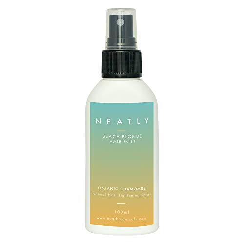 Aufhellungsspray NEATLY Bleach Blond Spray | 100ml Kamillen Extrakt & Magnesiumöl | Natürlich Haare Aufhellen | Bio Haaraufheller Blondierspray