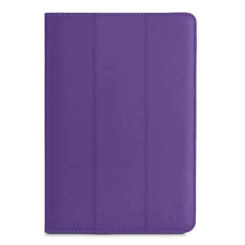 Belkin Tri-Fold Folio (magnetverschluss, geeignet für Samsung Galaxy Tab 4 bis 10,1 Zoll, Auto-wake) lila