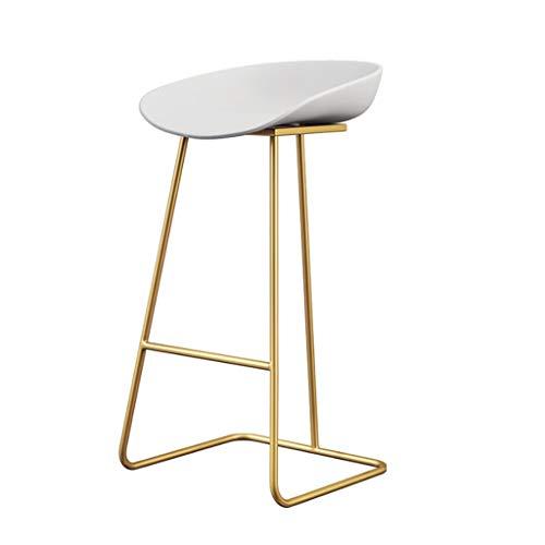 Eisen-hoher Schemel-Bar-Stuhl-Restaurant-Gegenstuhl-Café-Metallstuhl (Farbe : D, größe : Total Height 85 cm) -