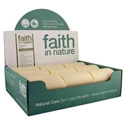 1 Pack of Faith in Nature Coconut Soap unwrapped 18 Box
