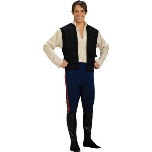 Star Wars Deluxe Herren Kostüm Han Solo Größe M/L (Deluxe Han Solo Kostüm)