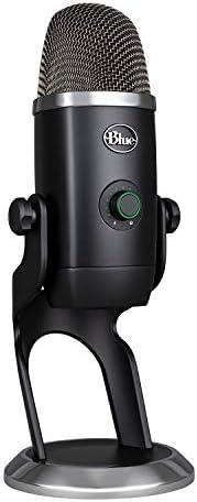 Blue Micrófono Yeti X profesional con condensador USB y medición de alta resolución, iluminación LED, botón in