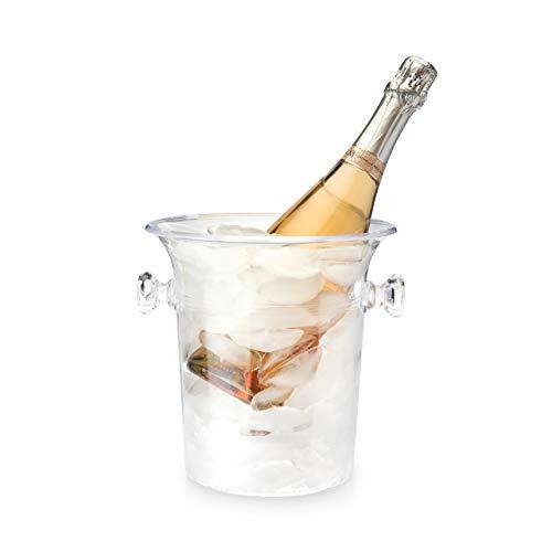 True 262 Durchsichtiger Akryl 1-Flasche Wein & Champange Kühler Eiskübel, Mehrfarbig, 8 x 8 x 12 cm (Acht Flasche Wein Kühler)