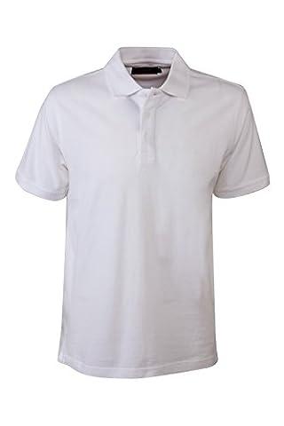 Pierre Cardin Mens Neue Saison klassische Passform Premium Polo T-Shirt aus Baumwolle (X-Groß, Weiß)