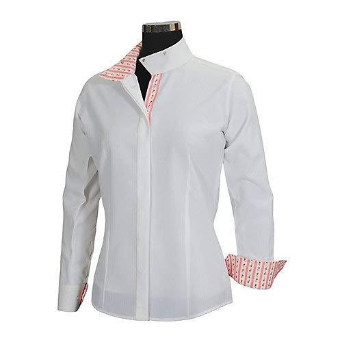 Equine Couture Damen-Shirt Isabel Coolmax Show, Damen, White/Floral, 30 - Reiten-shirt Coolmax