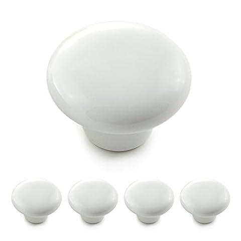 Set of 4(4x Knob Porcelain White Vintage Ceramic Cupboard Door Knobs Furniture/Cabinet Handles