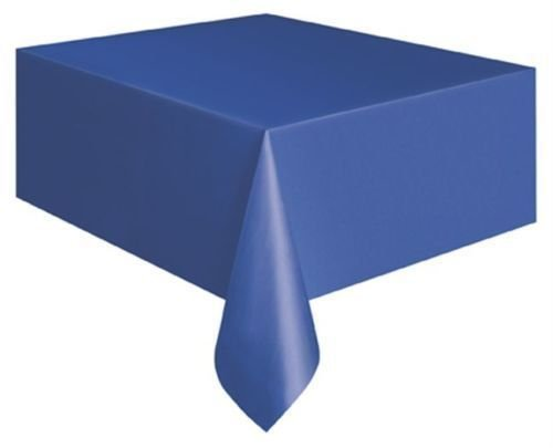 Plastic Tablecovers Table Cloth Cloths Parties Birthdays Rectangle Oblong Royal Blue