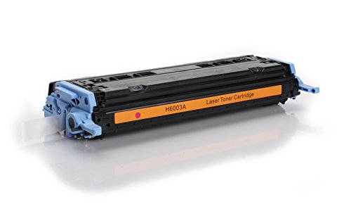 Toner kompatibel zu HP Q6003A | Magenta für ca. 2000 Seiten | ersetzt Toner für HP Color Laserjet CM1015 CM1017 1600 1600N 2600 2600N 2600NSE 2605 2605DN 2605DTN -