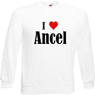 Reifen-Markt Sweatshirt I Love Ancel Größe 2XL Farbe Weiss Druck Schwarz