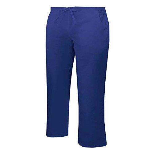 MISEMIYA - Pantaloni Vita Bassa con CORDONE Uniforme Lavoro Clinica Ospedale Pulizia Veterinario IGIENE OSPITALITÁ - Ref.Q8182 - XS, Blu