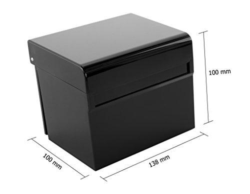 Schedario Ufficio Nero : Osco schedario hi gloss scatola con 100 carte colorati. u2013 nero