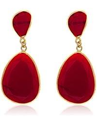 Córdoba Jewels | Pendientes en plata de Ley 925. Diseño Essencia Rubí Oro