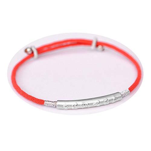 (AiLove Drache-Knoten-Armband-Rotes Seil-Chinesische Knoten-Gesponnene Handseil-Handkette)