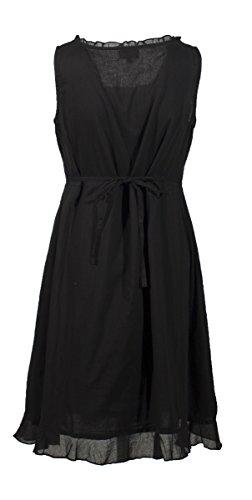 Coline - Robe courte unie doublée Noir