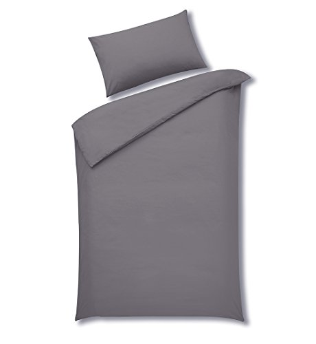 Price comparison product image Sleepscene Cotton Rich Duvet Set in Grey, Multiple Sizes Available (King)