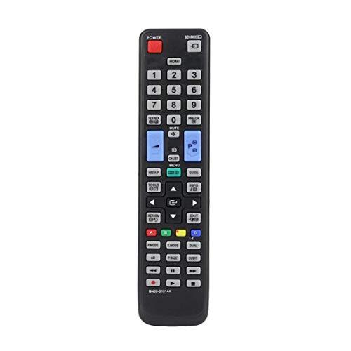 sdfghzsedfgsdfg Universal Smart TV-Fernbedienung Ersatz für Samsung BN59-01014A AA59-00508A AA59-00478A 3D-Fernseher-Controller Schwarz
