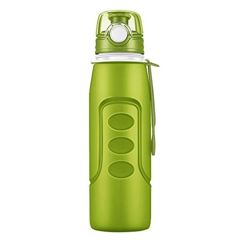 Rottay 1000 ml Wasserflasche faltbar aus Silikon-faltbare trinkflasche-faltbare Sport Flasche,BPA-frei, FDA-geprüft, mit auslaufsicherem Drehdeckel für Outdoor-Aktivitäten