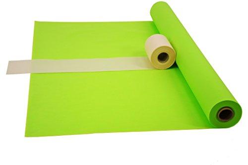 Fachhandel für Vliesstoffe Sensalux Kombi-Set 1 Tischdeckenrolle 1m x 25m + Tischläufer 15cm (Farbe nach Wahl) Rolle apfelgrün Tischläufer Creme
