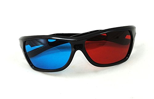 3D Brille Rot Blau Cyan Anaglyph Kino Glasses Brillen Filme TV PC Neu #769