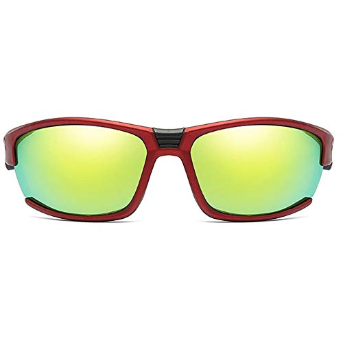 Lxc Outdoor-Sportarten Reiten Metall Sonnenbrillen Bunte Rot/Weiße Männer Und Frauen Mit Polarisierten Sandgestrahlten Sonnenbrillen Zeige Temperament (Farbe : Red)