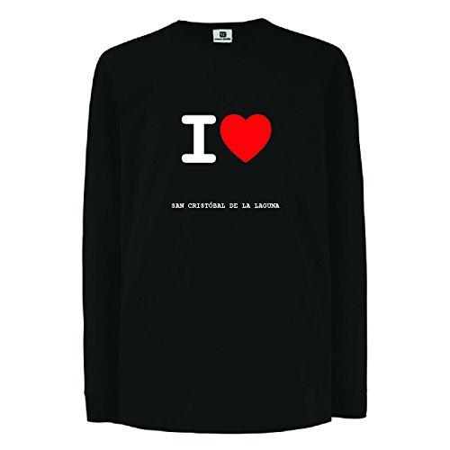 JOllify SAN CRISTÓBAL DE LA LAGUNA Kinder Junge Mädchen Langarm T-Shirt – Design: I love- Ich liebe - Größe: 164 - 14-15 Jahre (Langarm Laguna)
