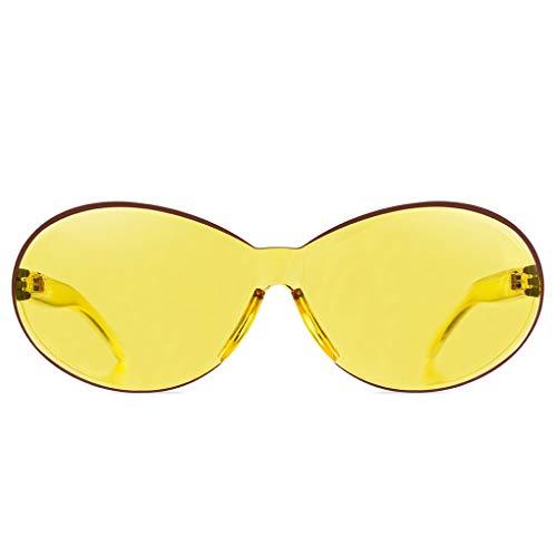 Junecat Unisex Sonnenbrille Resin Rahmen Gläser Sun-Glas-UV400 Schutz Shades Süßigkeit-Farben-Brillen