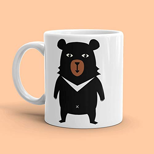 ZonaloDutt B?r Becher Grizzly B?r Becher B?r Kaffeetasse Papa B?r Becher Animal Print Becher B?r Tasse Tier Kaffee Becher Schwarzb?r Becher B?r Geschenk B?r - Animal-print Kaffee Becher