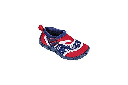 fashy® Kleinkinder Outdoor Sport- und Schwimmschuhe Aquaschuhe aus Neopren und Mesh mit Klettverschluss und TPR-Sohle Türkis/Grün 22