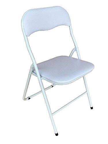 Avanti trendstore - caslano - sedia pieghevole in plastica, disponibile in 2 colori diversi, ca. 44x79x45 cm (bianco)