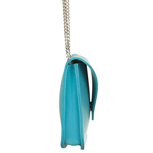Pochette turchese con tracolla Blu