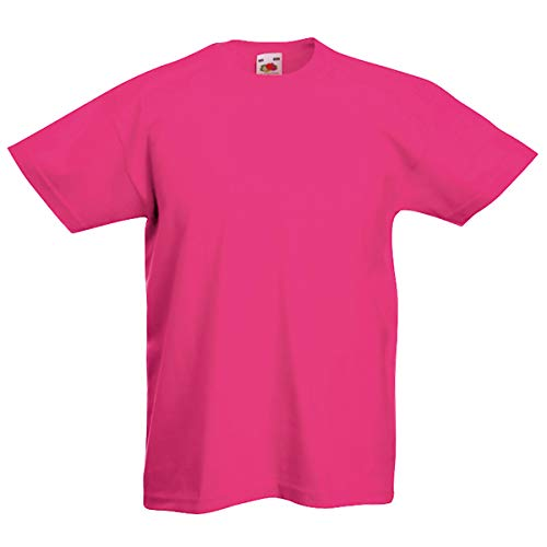 Fruit of the Loom - Kinder T-Shirt \'Valueweight T\' / Fuchsia, 152
