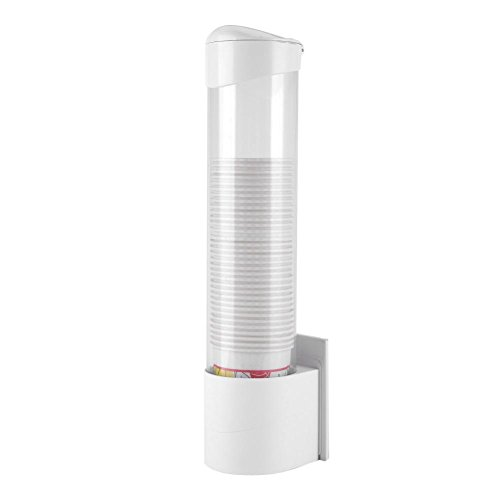 GOTOTOP Dispensador de Pared para Aprox 7.5 cm, 50pezzi, dispensador Vasos de plástico, Transparente