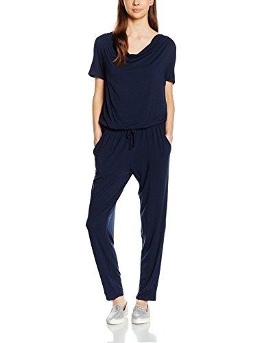 Tom Tailor - feminine waterfall jumpsuit, Tuta intera Donna, Blau (real navy blue 6593), S (Tallia Produttore: 36)