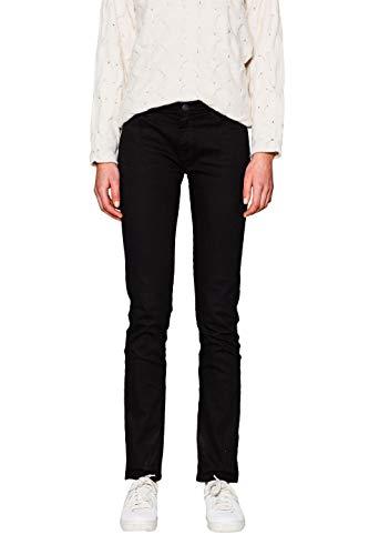 ESPRIT Damen 997EE1B817 Straight Jeans, Schwarz (Black 001), W32/L34