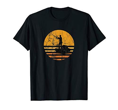 Fischer Vintage Angler Angeln Fischen Angelrute See Geschenk T-Shirt
