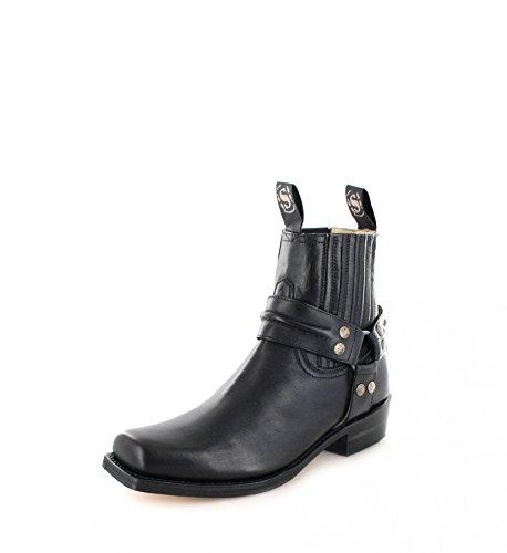 Sendra 2746 bottes tendances bottines bikerstiefelette (différents coloris) Noir - Noir