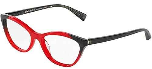 Alain mikli occhiali da vista 0a03067 red black donna