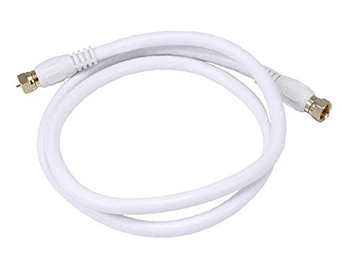 Monoprice 104057 07295 M F F weiß Kabel Koaxial - Kabel Koaxial (F, F, recht, recht, 0,91 m, Male Connector/Male Connector) -