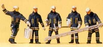 Preiser 10484 H0 Feuerwehrmaenner in moderner Einsatzkleidung