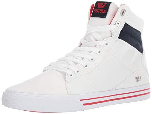 Supra Unisex-Erwachsene Aluminum Hohe Sneaker Weiß Navy-White 135, 37.5 EU Juicy Velour Hoodie