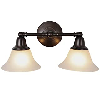 AF Lighting Af Lighting 617289 18 Inch W By 9 1/4 Inch H By 8 3/8 Inch Proj. Sonoma Lighting Collection 2 Light Vanity Oil Rubbed Bronze 18-Inch W By 9 -1/4-Inch H By 8-3/8-Inch Proj. Oil Rubbed Bronze
