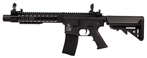 NFL Colt M4 Keymod Silencer AEG Schwarz 180869 Cybergun Full Metall/Farbe schwarz/elektrisch (0,5 Joule), Halb-/Vollautomatik