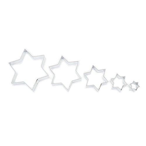 Ausstecher/ Ausstechform 5er Set Sterne 1,7 - 7,8 cm aus Edelstahl -