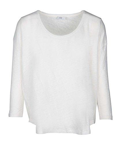 CLOSED Langarmshirt aus Leinen in Weiß - S