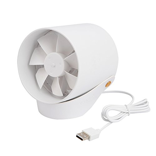 Emerson Zubehör (USB Ventilator Tischventilator für den Schreibtisch mit Touch Schalter, 2 Windgeschwindigkeit verstellbar weiß)